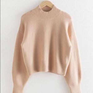 & Other Stories Mock Neck Sweater in Beige